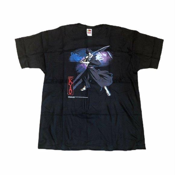 NOS Deadstock Samurai Deeper Kyo t-shirt XL black
